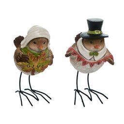 2 Piece Resin Fall Harvest Pilgrim Bird Figurine Set | Wayfair North America