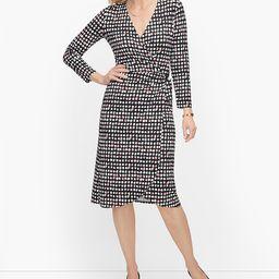 Talbots Women's Casual Dresses C9 - 42'' Black & Guava Layered Dots Surplice Dress - Plus | Zulily
