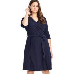 Plus East Adeline by Dia&Co Faux Wrap Dress, Women's, Size: 0X, Blue | Kohl's
