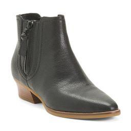 Leather Comfort Booties | TJ Maxx