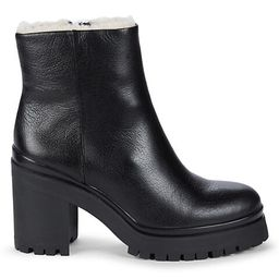 Milana Shearling & Leather Combat Boots | Saks Fifth Avenue OFF 5TH