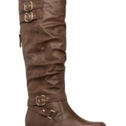 DELILA BUCKLED FLAT BOOT | ShoeDazzle