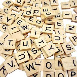 Sunnyglade 500PCS Wood Letter Tiles/ Wooden Scrabble Tiles A-Z Capital Letters for Crafts, Pendan... | Amazon (US)