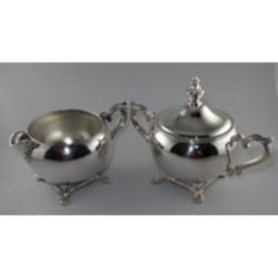 Wm Rogers Silver Plated Cream & Sugar Set - Argonne Hall, Llc | Etsy (US)