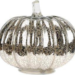 Beaupretty 1pc Silver Halloween Pumpkin Lamp Mercury Glass Lanterns Pumpkin Centerpiece with LED ... | Amazon (US)