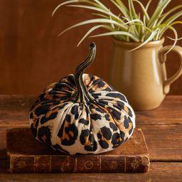 Small Fabric Pumpkin Leopard Print, modern farmhouse decor, glam table centerpiece, rustic home d... | Etsy (US)