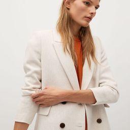 Double-breasted wool coat | MANGO (US)