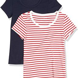 Amazon Essentials Women's 2-Pack Slim-Fit Cap-Sleeve Scoopneck T-Shirt | Amazon (US)
