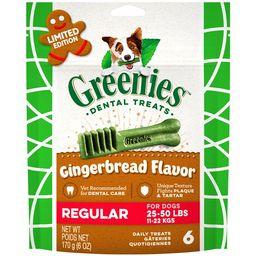 GREENIES Gingerbread Flavor Regular Size Dental Dog Treats, 6 oz. Pack (6 Count), Great Holiday D... | Walmart (US)