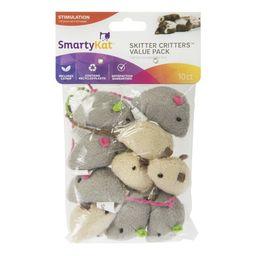 SmartyKat Skitter Critters Catnip Cat Toys, 10 Count | Walmart (US)