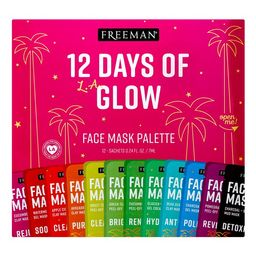 ($15 Value) Freeman 12 Days of Glow Holiday Hydrating Facial Mask Gift Set, 12 Pieces | Walmart (US)