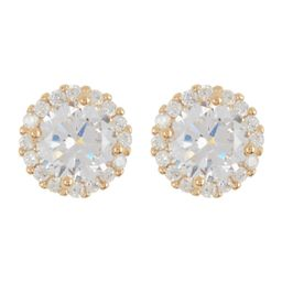ADORNIA | 14K Gold Vermeil Swarovski Crystal Halo Stud Earrings | Nordstrom Rack | Nordstrom Rack