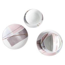 MoDRN Glam Geo 12 Piece Porcelain Dinnerware Set | Walmart (US)