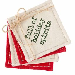 mud pie® Holiday Spirits Coaster Set | Francesca's Collections