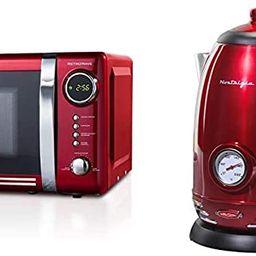 Nostalgia RMO7RR Retro 0.7 cu ft 700-Watt Countertop Microwave Oven, Metallic Red & RWK150 Retro ...   Amazon (US)