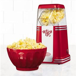Hot Air Popcorn Maker, Nostalgia '50s-Style, Table-Top, Red   Amazon (US)