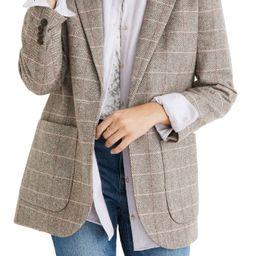 Women's Madewell Woodhull Plaid Blazer, Size Small - Grey | Nordstrom