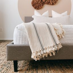Sophie 100% Turkish Cotton Throw Blanket in Full Size Cream   Etsy   Etsy (US)