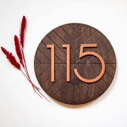 House Number Plaque Address Sign Modern House Numbers   Etsy   Etsy (US)