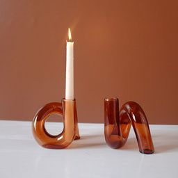 Glass Candle Holder  Candlestick Holder  Plant Pot  Wedding   Etsy   Etsy (US)