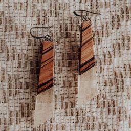 Zebrawood and Epoxy Drop Earrings   Etsy   Etsy (US)