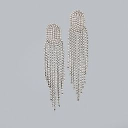 Rhinestone Chandelier Earrings   White House Black Market