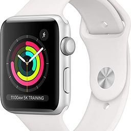 Apple Watch Series 3 (GPS, 42mm) - Silver Aluminium Case with White Sport Band   Amazon (US)