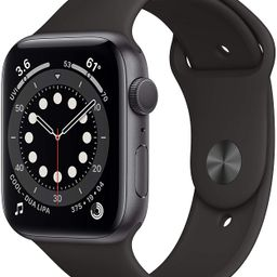 New AppleWatch Series 6 (GPS, 44mm) - Space Gray Aluminum Case with Black Sport Band   Amazon (US)