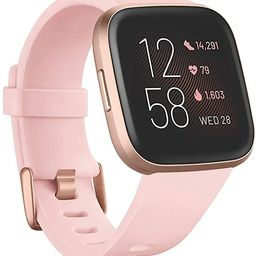 Fitbit Versa 2 Health and Fitness Smartwatch with Heart Rate, Music, Alexa Built-In, Sleep and Sw...   Amazon (US)