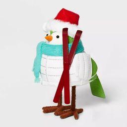 Bird with White Puffer Jacket & Santa Hat Decorative Figurine - Wondershop™ | Target