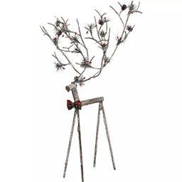 Transpac Metal 24 in. Multicolor Christmas Reindeer Figurine | Target