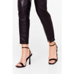 Womens Stand the Test of Time Faux Leather Strappy Heels - Black - 7, Black | NastyGal (UK, IE)