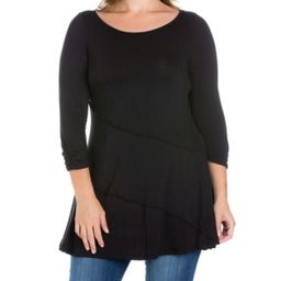 Women's Plus Size Ruched Sleeves Swing Tunic Top | Macys (US)