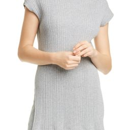 Women's Max Mara Leisure Road Ribbed Tunic Sweater, Size Large - Grey | Nordstrom