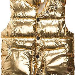 Omoone Women's Sleeveless Hooded Shiny Metallic Puffer Vest Padded Jacket   Amazon (US)