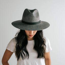 Scottie Wide Brim Fedora - Grey | Gigi Pip