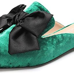 CASTAMERE Womens Pointed Toe Bow-Knot Mules Slip On Velvet Slippers Casual Comfortable Flats   Amazon (US)