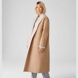 Doubleface Wool Cashmere Shawl Collar Coat   Eileen Fisher