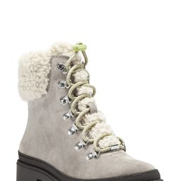 Sole Society | Eavan Faux Shearling Trim Lace-Up Boot | Nordstrom Rack | Nordstrom Rack
