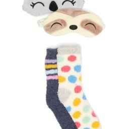 Free Press | Cozy Eye Mask & Novelty Socks 4-Piece Set | Nordstrom Rack | Nordstrom Rack
