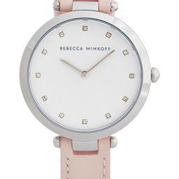 Rebecca Minkoff Nina Leather Strap Watch, 33mm | Nordstrom | Nordstrom
