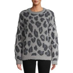 Time and Tru Women's Eyelash Sweater | Walmart (US)
