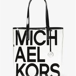 The Michael Large Graphic Logo Print Clear Tote Bag | Michael Kors (US & CA)