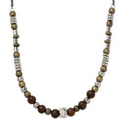 Ettika Metal & Wood Beaded Necklace | Nordstrom | Nordstrom