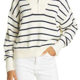 Stripe Half Zip Merino Wool Sweater | Nordstrom
