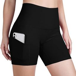 ODODOS Women's Out Pockets High Waisted Workout Shorts, Yoga Athletic Cycling Hiking Sports Short... | Amazon (US)