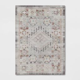 Bromelia Distressed Geo Persian Rug Blush - Opalhouse™ | Target