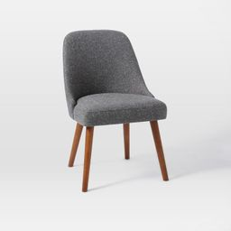 Mid-Century Upholstered Dining Chair - Wood Legs | West Elm (US)