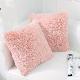NordECO HOME Luxury Soft Faux Fur Fleece Cushion Cover Pillowcase Decorative Throw Pillows Covers... | Amazon (US)