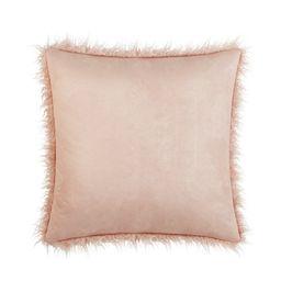Better Homes & Gardens Mongolian Faux Fur Pillow, 22 x 22, Blush | Walmart (US)